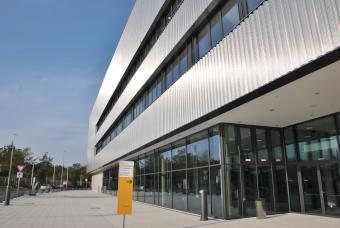 Pressekonferenz Bautec 2020 am 23. Oktober 2019: hub27, die neue Messe- und Kongresshalle der Messe Berlin.