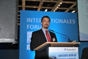 Wasser Berlin International 2015: Cyber Forum mit Kevin Morley, American Water Works Association (Bild: IWP)