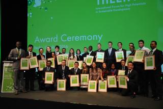 Green Talents Award: Dr. Georg Schütte Staatssekretär im Bundesministerium für Bildung und Forschung bei der Preisverleihung
