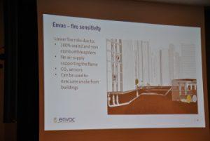 Über Praxiserfahrungen mit pneumatischen Sammelsystemen berichtete Jonas Törnblom, Senior Vice President ENVAC Group Schweden.