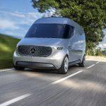 """Mercedes-Benz Vision Van - Exterieur: Vollelektrische Fahrzeugstudie """"Vision Van"""" mit bis zu 270 km Reichweite, vollautomatisiertem Laderaum und integrierten Lieferdrohnen"""