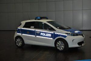Schaufenster-Elektromobilität: Auch Einsatzfahrzeuge der Polizei fahren elektrisch.