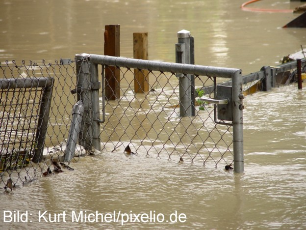 Hochwasser im Garten