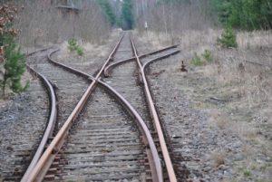 Schienenverkehr lahmt Kaserne Sperenberg, Ruine,Bahn