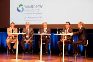 Podiumsdiskussion:Eröffnungsveranstaltung WindEnergy Hamburg im CCH Saal 1 ©Hamburg Messe und Congress/Windenergy