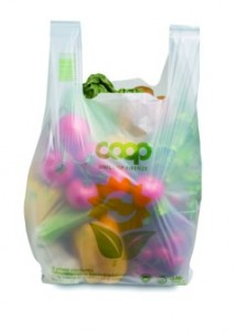 Compostable Bag from Unicoop © Novamont