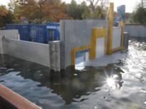 Automatische Hochwasserschutzsystem hat Test der TUHH bestanden /Bild:AQUA-STOP Hochwasserschutz GmbH
