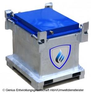 Transportbox als standardisiertes Sicherheitssystem (Bild: Genius Entwicklungsgesellschaft mbH)
