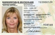 So sieht er aus: der neue Personalausweis  Quelle: BMI
